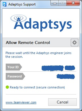 adaptsys remote support